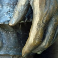 Photo by Wendy-Jean Iannico. A hand of one of the statues at the Vietnam Memorial